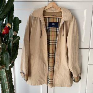 Burberry women's zip raincoat